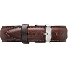 Daniel Wellington Bristol Silver Womens Brown Leather Buckle Watch Strap with Pin of 18cm 0811DW * Read more reviews of the product by visiting the link on the image.