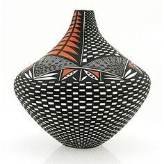 Native American Acoma Pottery Vase By Sandra Victorino