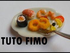 Tuto fimo - Sushi, maki, beignet de calamar - YouTube - la cerise sur le gâteau chaîne fimo