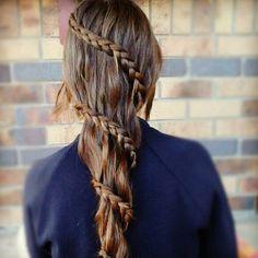 Plait Hair Twist for a cute Princess Look Plaits Hairstyles, Fancy Hairstyles, Love Hair, Gorgeous Hair, Cool Hair Designs, French Twist Hair, French Braid, Hair Today, Hair Dos
