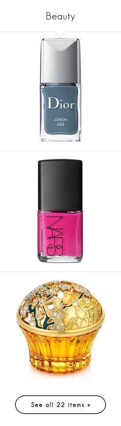 """""""Beauty"""" by sailorjerri ❤ liked on Polyvore featuring beauty products, nail care, nail polish, makeup, nails, beauty, beaty, junon, gel nail polish and christian dior nail polish"""