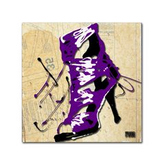Purple Strap Boot by Roderick Stevens Painting Print on Wrapped Canvas