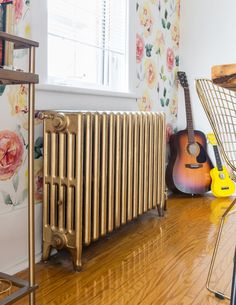 the Mom of Three Who Ditched Toronto Real Estate Prices for a Cottage in the Country Genius update old radiators with a can of spray paint!Genius update old radiators with a can of spray paint! Decor, Old Radiators, Home, Home Improvement, Real Estate Prices, Create Decor, Home Renovation, Rearranging Furniture, Decorative Radiators