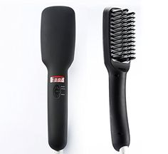 WinTech Hair Straightener Brush Anion instant Magic Silky Straight Hair Styling Anti Scald Anti Static Ceramic Heating Detangling Hair Black >>> Check this awesome product by going to the link at the image.