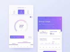 Smart Home App_Dark & Light designed by Yvonne Fung. Connect with them on Dribbble; the global community for designers and creative professionals. Mobile Ui Design, App Ui Design, Dashboard Design, Interface Design, Web Design Studio, Smart Home Technology, Smartphone, Ui Design Inspiration, Chat App