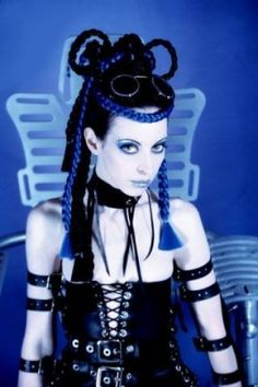 The image is of personality Cyber #Goth Mistress. Just love the feeling of the image