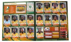 Panini Checkliste WM 2010 Elfenbeinküste Sticker eingeklebt