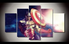 Own this amazing Marvel Comics superhero Captain America wall canvas today we will ship the canvas for free. This is the perfect centerpiece for your home. It is easy to assemble and hang the panels together which makes this a great gift for your loved ones. This painting is printed not handpainted and is ready to hang! We have 1 options for this canvas -- Size 1: (20x35cmx2pcs, 20x45cmx2pcs, 20x55cmx1pc) Limited quantities left. www.octotreasures.com