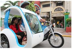 Widespread use of electric vehicles to help improve the environment in the Philippines Electric Tricycle, Electric Cars, Filipino Culture, Trike Motorcycle, Cool Boats, Car Gadgets, Bike Accessories, Bike Design, Sidecar