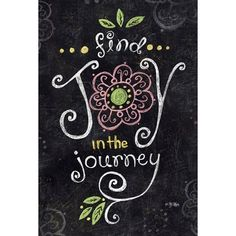 Toland Home Garden Joy In The Journey Chalkboard 2-Sided Garden flag