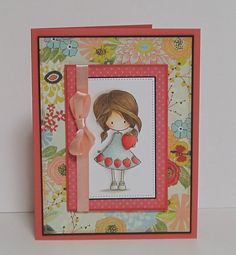 handmade birthday card for a sweet girl by busygirlart on Etsy, $6.00