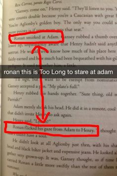 Ronan + Adam. Totally ship it.