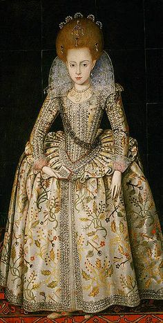 Elizabeth Princess Royal,1606 Elizabeth aged about 10 years old by Robert Peake the Elder