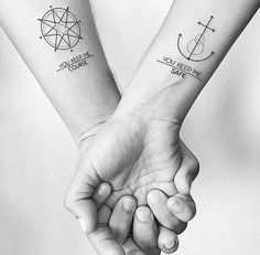 Couple Tattoo Matching Anchors 52 Ideas For 2020 Couple Tattoos Love, Love Tattoos, Unique Tattoos, Body Art Tattoos, Wrist Tattoos, Arrow Tattoos For Women, Small Arrow Tattoos, Sleeve Tattoos For Women, Neck Tattoo For Guys