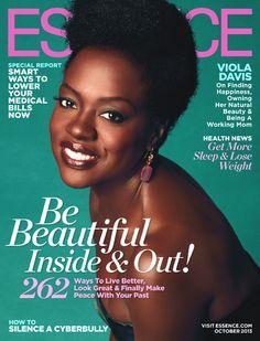 Beautiful Cover: Actress Viola Davis for Essence Magazine, October 2013
