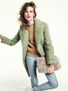 How to pull off the top fall trends: There's a perfect winter coat out there, and it may even bear a resemblance to the one already hanging in your closet, with one notable difference: It's light green, or pale salmon, or dusty pink