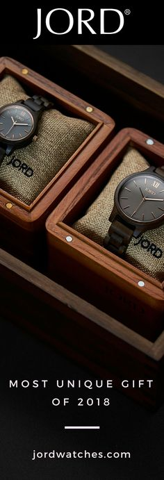 JORD's line of natural wood watches are the most unique gift to give for 2018. Durable, design forward, and manufactured using luxury components. Find their perfect gift at jordwatches.com! Free shipping worldwide!