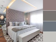 Quarto de bebe menina nas cores rosa e cinza decoracao classica e delicada Home Bedroom, Master Bedroom, Bedroom Decor, Suites, Luxurious Bedrooms, Ceiling Design, Vintage Furniture, Interior Design, Decoration