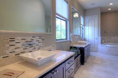 framing a bathroom mirrors with tile 2 sinks - Google Search