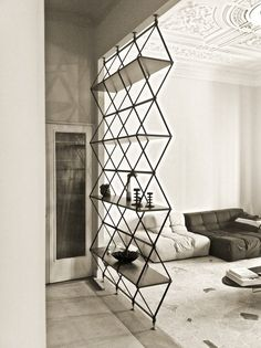 Iron and wood Shelve/room divider