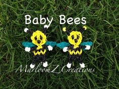awesome Rainbow Loom Baby Bee Charm: How To Rainbow Loom Bands, Rainbow Loom Charms, Rainbow Loom Bracelets, Loom Love, Fun Loom, Rainbow Loom Tutorials, Rainbow Loom Creations, Rubber Band Crafts, Rubber Bands