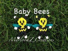 Rainbow Loom Baby Bee Charm: How To VIDEO