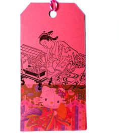 Japanese rubber stamp / Geisha with bird cage / by MAKIstamps, €5.80