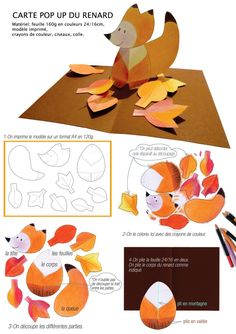 Carte pop up renard exp 1 copier Pop Up Art, Arte Pop Up, Diy For Kids, Crafts For Kids, Geometric Shapes Art, Creative Money Gifts, Christmas Card Crafts, Fun Fold Cards, Toy Craft