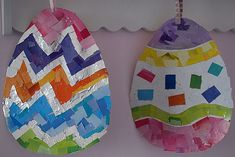 Decorate for Easter with these simple Easter Egg Mosaics!