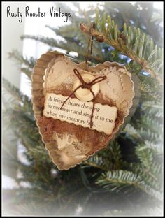 Vintage cookie cutter ornaments (embellished)