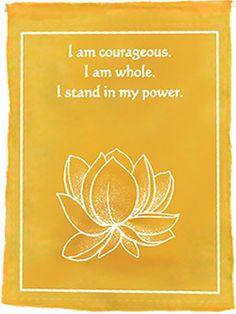 chakra affirmation. #lotus