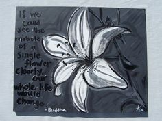 Buddah Lily by ArtByAmberlynn on Etsy, $45.00