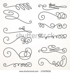 stock-vector-decorative-swirls-vector-set-vintage-borders-vignettes-scroll-elements-174976658.jpg (450×470)