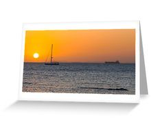 Sunset Over Port Phillip Bay Greeting Card