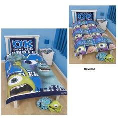 Monsters Inc 'University' Reversible Duvet Cover With Pillowcase Set