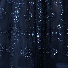 blue dark sparkle tulle