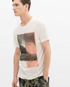 b9cdb00067aad Image 1 of T-SHIRT WITH SILK PANEL from Zara Zara Man