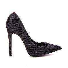 Oferta: 24.11€. Comprar Ofertas de Zapatos Tacón de aguja purpurina una punta de pointu - tacón 11 cm - Negro, 36 EU barato. ¡Mira las ofertas!
