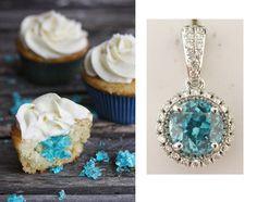 Yummy Blue Zircon and Diamond Pendant @LarcJewelers #larcjewelers