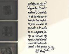 "#Vinilos decorativos con frases ""Mundo positivo"""