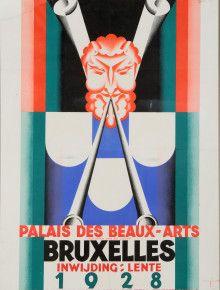 palais des beaux arts exhibition 1928 brussels belgium