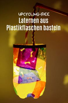 Quickly make a lantern with children. Super DIY for the lantern parade. With bond . : Quickly make a lantern with children. Super DIY for the lantern parade. With bond . - Basteln mit Kindern im Herbst - Diy Upcycled Art, Upcycled Home Decor, Diy Home Decor, Diy Upcycling, Diy Simple, Easy Diy, Diy For Kids, Crafts For Kids, Children Crafts