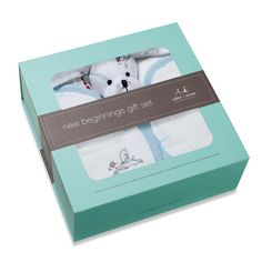 Aden + Anais New Beginnings Boxed Gift Set - Liam The Brave | Baby Shower Gift www.duematernity.com