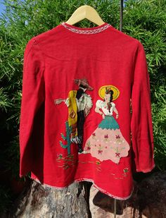 Vtg 40s 50s Mexican Hand Embroidered Souvenir Jacket Folk Art Wool Appliqué M L in Clothing, Shoes & Accessories, Vintage, Women's Vintage Clothing, 1947-64 (New Look-Early 60s), Coats & Jackets | eBay