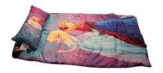 indoor camping slumber set - Disney Frozen Anna and Elsa Slumber Bag with Pillow and Bonus Reusable Storage Bin * Continue to the product at the image link. (This is an affiliate link)