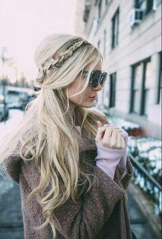 Warkocz długie włosy