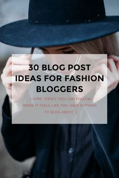 30 fashion blog post
