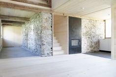 bernhard breuer family house . tschagguns  Restoration of an old stable into a family house.
