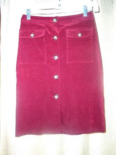 Moda International Women's Red button down skirt Size 2   #ModaInternational #StraightPencil