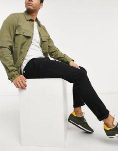 Asos, Pantalon Slim, Slim Pants, Jack Jones, Slim Fit, Cotton Spandex, Military Jacket, Latest Trends, Bomber Jacket
